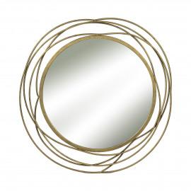 SLING - spiegel - metaal - goud - Ø67 cm