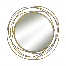 SLING - miroir - métal - or - Ø67 cm
