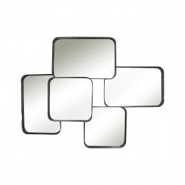 SQUAR - spiegel 5 stuks - metaal - zwart - 78,3x57,7x11 cm