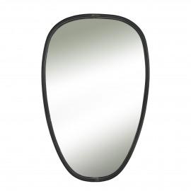 SXARO - miroir - métal - noir - M - 45x70 cm
