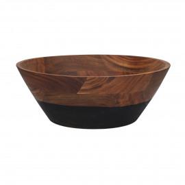 DROP - saladeschaal - acacia - DIA 35 x H 13 cm