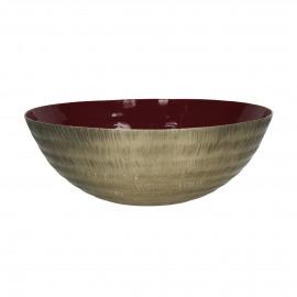 LYKSIE - bowl - metal - DIA 32 x H 12 cm - fuchsia