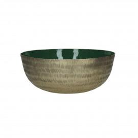 LYKSIE - bol - métal - vert - M - Ø26,5x10 cm