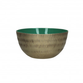 LYKSIE - bowl - metal - light green - S - Ø14x7 cm