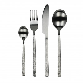 OSAWA - set 24 cutlery - S/S 18/0 - silver - embossed