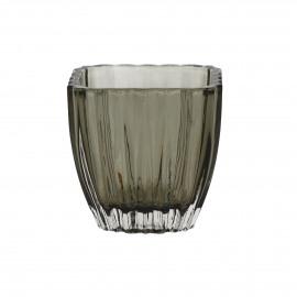 STERA - t-licht - glas - DIA 8,5 x H 8,5 cm - bruin