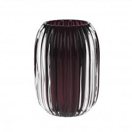 STERA - photophore - verre - bordeaux - Ø9,5x13 cm