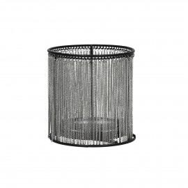 DRAY - photophore - fer / verre - DIA 10,8 x H 11 cm - Gris