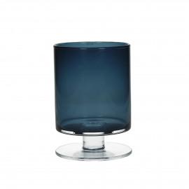 TARA - Vaas - Glas - donkerblauw - S - h 15,5 x Ø 11 cm