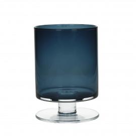 TARA - Vaas - Glas - donkerblauw - M - h 23 x Ø 15 cm