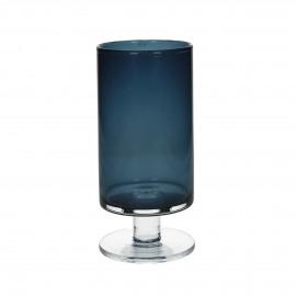 TARA - Vase - Verre - bleu foncé - L -  h 28 x Ø 12 cm