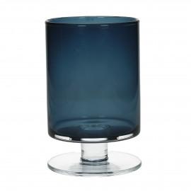 TARA - Vase - Verre - bleu foncé - XL - h 34 x Ø 20 cm