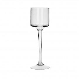PUR - T/light op voet - Glas - h 28,5 cm