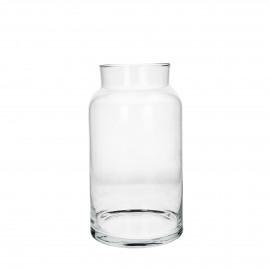 ZJEF - Vaas/windlicht - glas - h 30 cm x Ø 17,5 cm