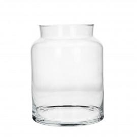 ZJEF - Vaas/ windlicht - glas- L - h 28 cm x Ø 21 cm