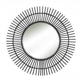 TIRA - mirror - bamboo / mirror glass - DIA 70 x W 2 cm - Black