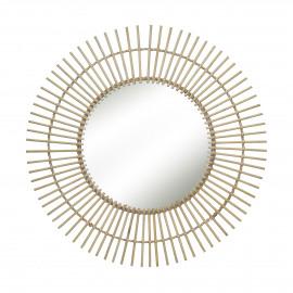TIRA - mirror - bamboo / mirror glass - DIA 70 x W 2 cm - natural