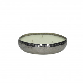 PACIFY - bowl with wax - metal - DIA 13 x H 3 cm - silver