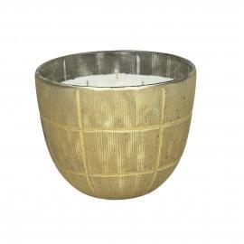 VERTIGO - bowl with wax - glass - DIA 17 x H 15 cm - Gold