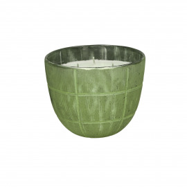 VERTIGO - bowl with wax - glass - green - S - Ø13xh10 cm