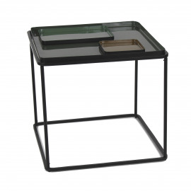 SKAR  - coffee table - iron - L 50 x W 50 x H 46 cm - green