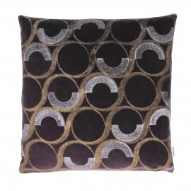 CHAMPAGNE - coussin déco - velours - violet - 45x45 cm
