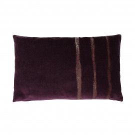 GLORY - deco kussen - velours - paars - 30x50 cm