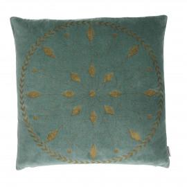 LANCELOT - deco kussen - velours - grijsblauw - 45x45 cm