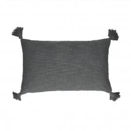 FREE - deco kussen - 100% katoen - donkergrijs - 30x50 cm