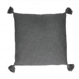 FREE - cushion - cotton - L 45 x W 45 cm - dark grey
