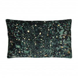 STIEN - kussen - velvet - donker groen/paars - 30x50 cm