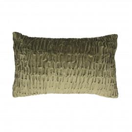 RICHE - deco kussen - katoen velours - groen goud - 50x30 cm
