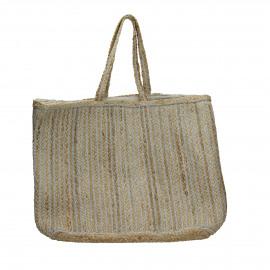 SISSY - sac à buches - jute / lurex - L 40 x W 40 x H 40 cm - mix de couleurs