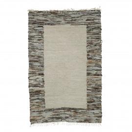 MAURITIUS - tapijt - leder / katoen - L 180 x W 120 cm - multicolor