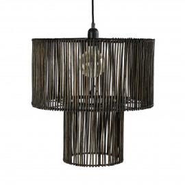 CARMEN - hanglamp - rotan - DIA 42 x H 43 cm - zwart