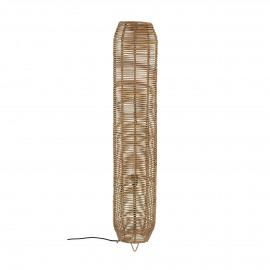 CARLOS - lampadaire - rotin - DIA 24 x H 125 cm - naturel