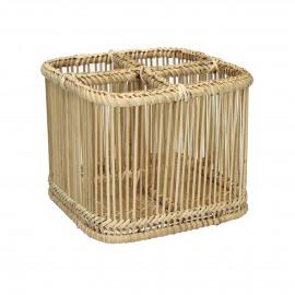 PRANA - cutlery basket - bamboo - L 19 x W 19 x H 15 cm - natural