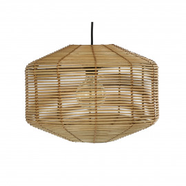 NATHAN - suspension - rotin - DIA 40 x H 30 cm - naturel