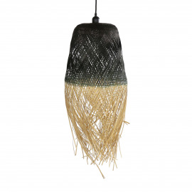 SUZY - suspension - bambou - DIA 28 x H 60 cm - mix de couleurs