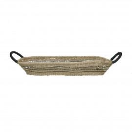 FORTUNE - mand - seagrass - L 60 x W 14 x H 9 cm - mix van kleuren