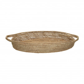 PALMYRE - tray - palm leaf - DIA 30 x H 5 cm - natural