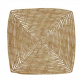 PALMYRE - set de table - palmier - L 35 x W 35 cm - naturel