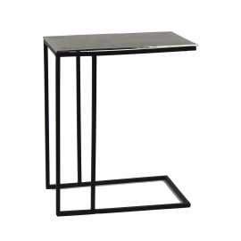 CABEB - coffee table - metal - L 45 x B 31 x H 54 cm - silver