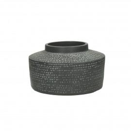 SYROS - vase - earthenware - DIA 23 x H 13 cm - dark grey