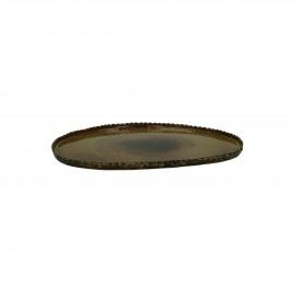PLATO - assiette déco - métal / émail - L 25 x W 23 x H 1 cm - Brass