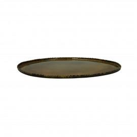 PLATO - assiette déco - métal / émail - L 34,5 x W 31,5 x H 1 cm - Brass