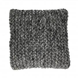 WOOLY - coussin déco - 100% laine - gris foncé - 45x45 cm