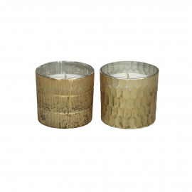 HONIVER - scented candles - glass - DIA 6 x H 6 cm - gold