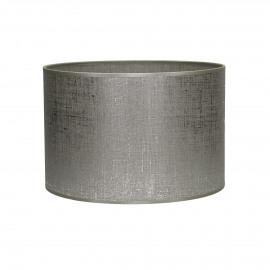 LINOR - lampenkap - linnen - zilver - E27 - Ø30x20 cm