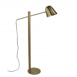 SATURN - vloerlamp  - metaal - L 30 x W 80 x H 138 cm - goud